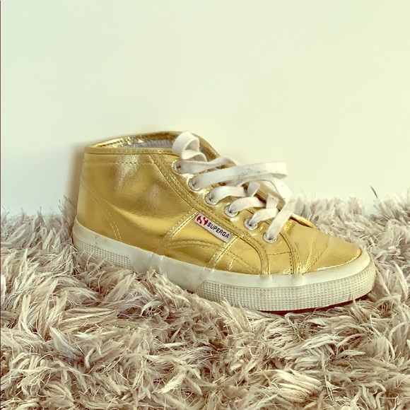 Superga Shoes | Superga Gold Sneakers